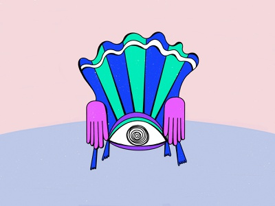 Keep an eye out sitinpieces chairconcept chairs eyechair eye keepaneyeout chair procreateapp art abstract concept graphic illustration design shrutillusion