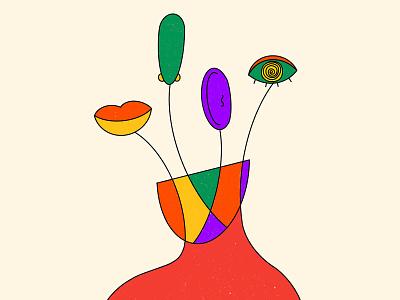 Evolve your senses editorial mouth nose eyes senses sense evolveyoursenses evolve procreateapp sketch concept art abstract design illustration graphic shrutillusion