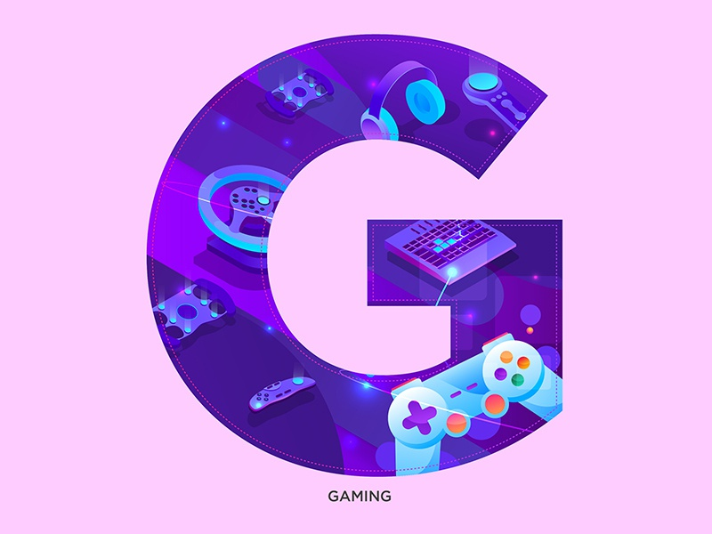 G - Gaming 36daysoftype-g gaming vector alphabets type logo concept typography abstract graphic shrutillusion design
