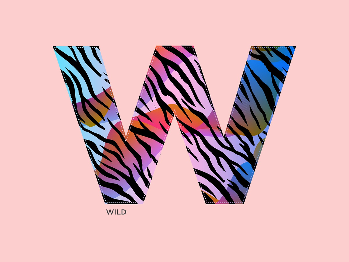 W - Wild wild 36daysoftype-w alphabets logo concept vector art type typography illustration abstract graphic shrutillusion design