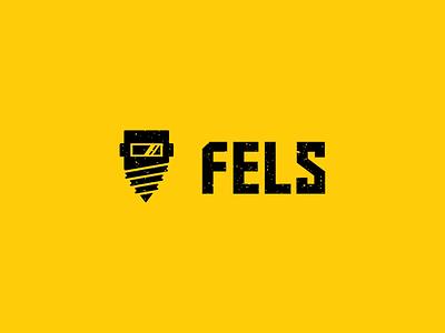 FELS logo - Welding logo design screw metal logo welding
