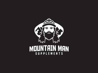 Mountain Man Logo logo design supplements man mountain vector design logo
