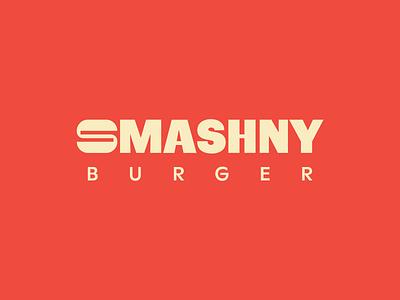 Smashny Logo smashed identity burger logo red icon typography branding design logotype logodesign burger logo