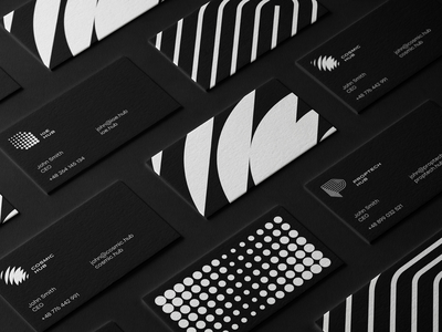 Business Card for CIC HUB's cosmic hub idenity adobe logoset typography clean vector branding businesscard card design logos logodesign logo