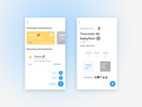 UI Concept - Afterwork & events in a company : Homepage