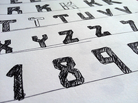 Typeface sketches
