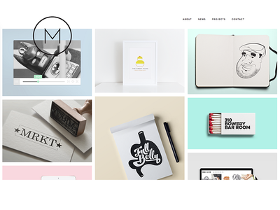 Portfolio Design wordpress minimal clean portfolio website