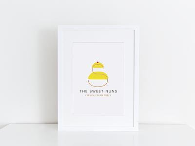 The Sweet Nuns Logo french bakery logo sweet nuns nuns sweet