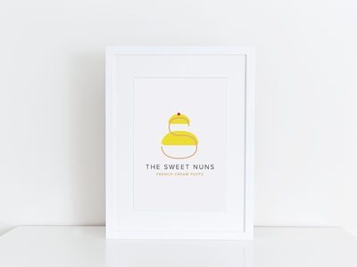 The Sweet Nuns Logo french bakery logo sweet nuns nuns sweet
