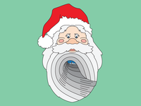 Santa Barrel Beard