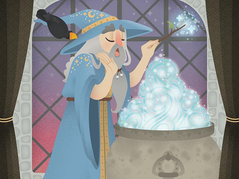Wizard dribbble amurphy