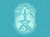 Sword in the Stone Badge - Personal Branding