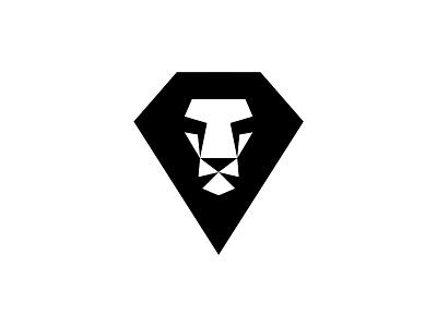 Diamond Lion Head lowpoly diamond logo mark lion head lion