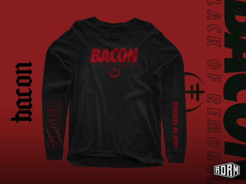 7f1f82a9 BACON - ON SALE! streetwear typography branding alternative illustration  logo design dark art textures distressed