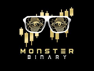 Logo Monster Binary logo