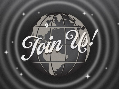 Join Us! television vintage breaking news news world retro globe map