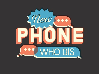 New Phone Who Dis text message new phone who dis vector practice type lettering