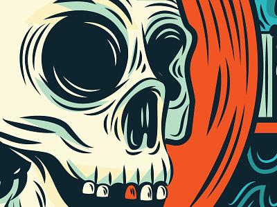 gold tooth gold tooth skeleton dead illustration vector detail skull