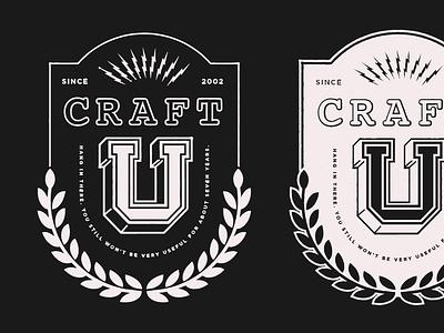 craft school lockup logo badge
