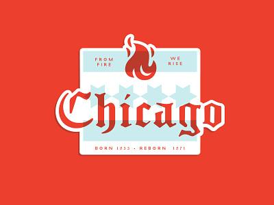warmup No 1. type wip sticker fire chicago