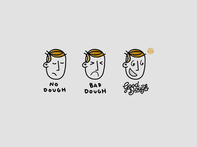 Community Initiative - GOOD DOUGH good dough good dough san marco jacksonville duval florida illustration goodtype design baking pastry scissorfiesta collab halftones character black gold advert local doughnuts