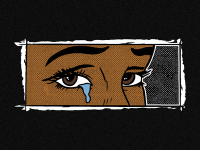 Brown Eyed Girl tears sad girl sad black girl pop art popart crying brown blackgirl black comic