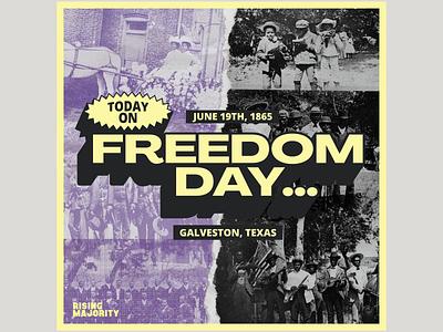 Rising Majority - Freedom Day day freedom june19th freedomday juneteenth collage scissorfiesta design branding graphic design