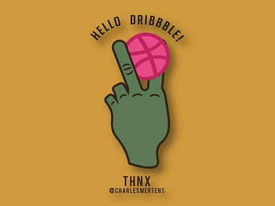 Dribbble Debut finger logo scissorfiesta
