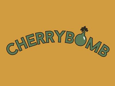 CherryBomb mustard army green doodle scissorfiesta bomb cherry