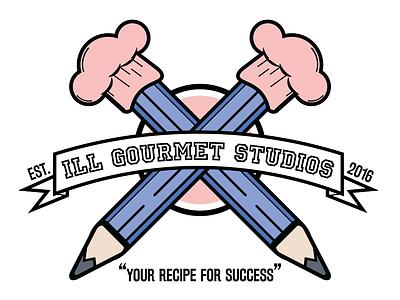 Ill Gourmet Studios Logo design noir scissorfiesta logo design illgourmetstudios igs