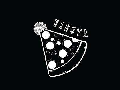 FIESTA. scissorfiesta fiesta scissor hat party blackandwhite doodle noir