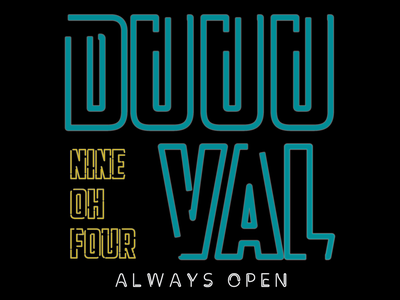 Duval Neon duval black scissorfiesta text open jags florida jacksonville neon gold teal