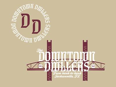 Downtown Dwellers icon design fla florida maroon cream bridge main street bridge jacksonville scissorfiesta