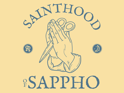 Sainthood x Sappho earthtonea earth scissor scissorfiesta lesbos prayer prayinghands praying sappho
