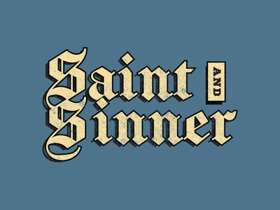 Saint & Sinner stone blue washed indigo cream scissorfiesta sin sinner saint