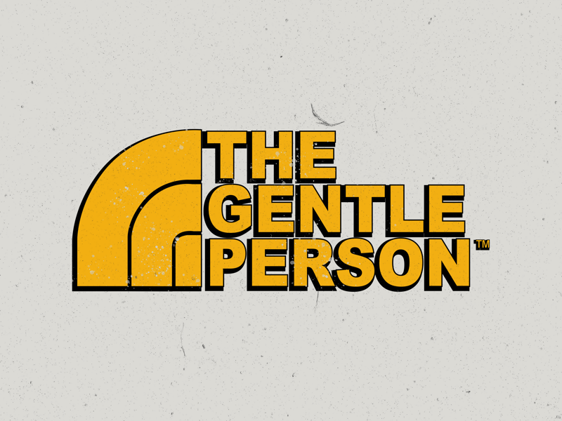 The Gentle Person ™️ distressed8 pantone yellow gentlelady gentleman person gentle