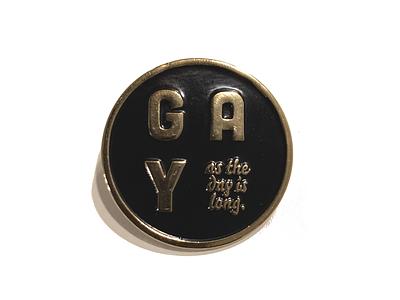 Long Gay Day Pin logo yellow gold fiesta scissor design scissorfiesta emamel pin pin lgbt gay