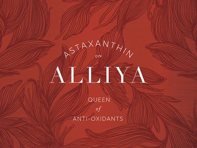 Alliya, Thailand astaxanthin thailand branding logo