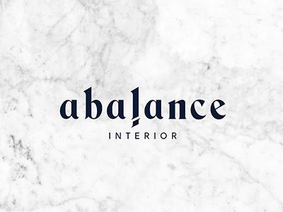A Balance Interior magician i a interior bangkok design branding logo