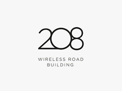 208 Wireless Road branding logo number 208
