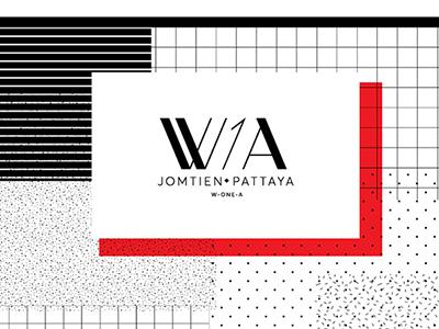 W1A Hostel 1 a w ci font logo branding thailand pattaya w1a