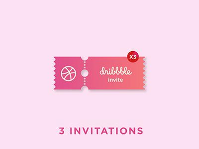 3 Dribbble Invites invite invites dribbble