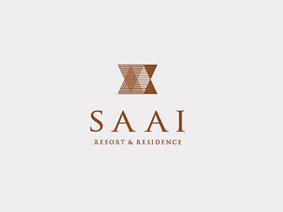SAAI Resort & Residence hourglass design logo branding resort saai