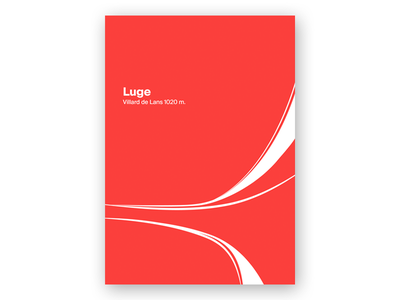 Luge sport international swiss poster