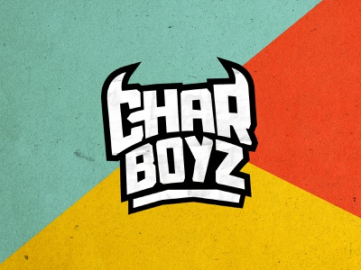 Charboyz food blue yellow identitydesign charboyz typography bold bbq branding bbq branding