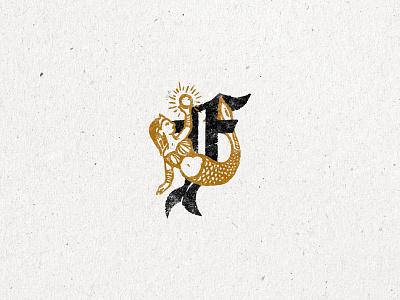 Fortune Oysters identity design brand identity logo ocean pearl mermaid texture grunge illustration illustrator