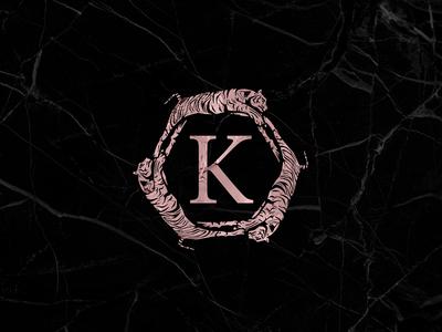 Konrad Lifestyle foil cat pink logo badge premium luxury elegant champagne tiger