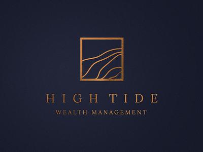 High Tide Wealth Management metal badge luxury rich gold copper sand wave tide opulent money wealth