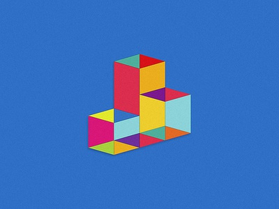 Community Living Centres home buidlings triangle square pattern icon abstract shapes colorful blocks
