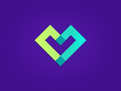 CLC Heart branding l c teal purple pixel heart icon